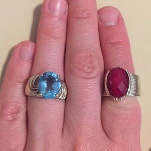 Jewelry - Silver rings! Size 6